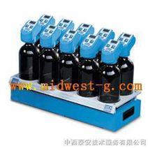 职位搅拌器与数字传感器和瓶子