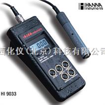 哈纳仪器专卖/便携式防水电导率测定仪 型号:HANNA HI 9033