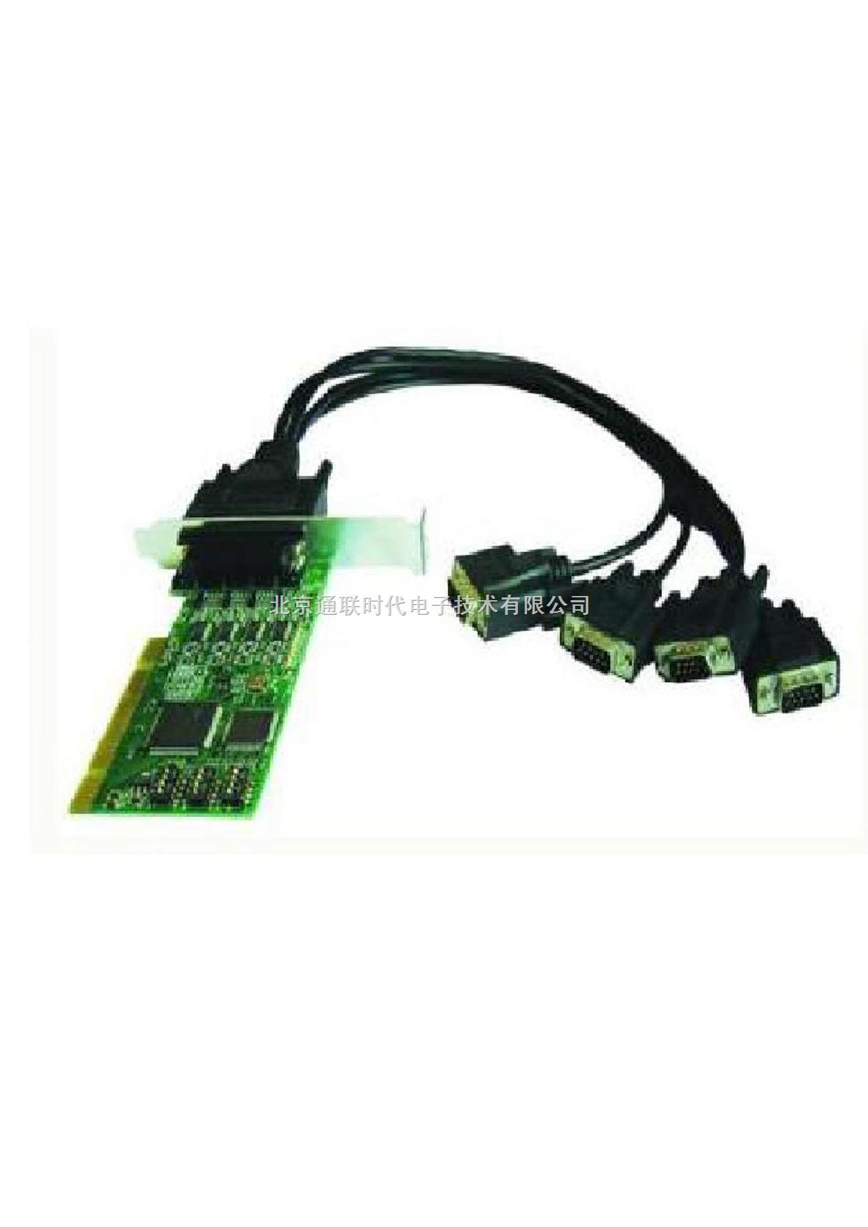 工业型PCI 4口RS-232/422/485串口卡,带2KV隔离,低挡板支架